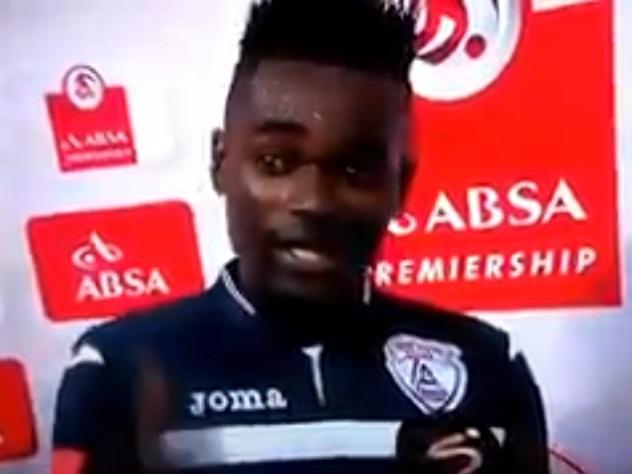 Африканский футболист случайно признался визмене впроцессе интервью