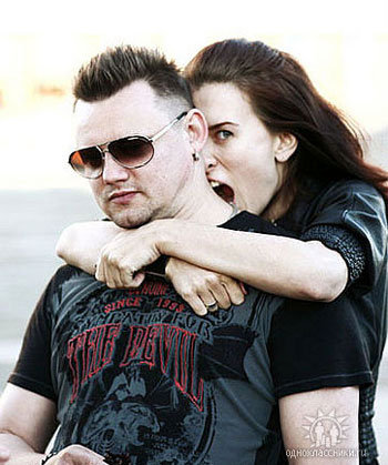 Андрей с нынешней женой Агатой (Фото: odnoklassniki.ru)
