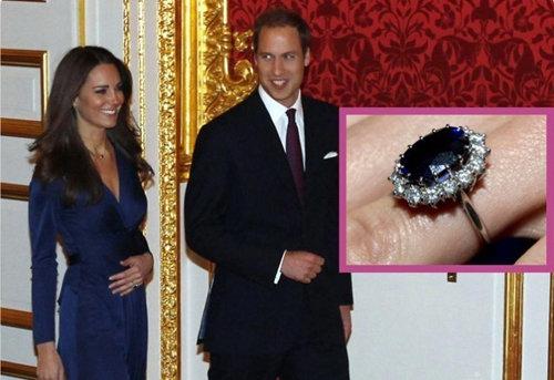 Уильям подарил Кейт обручальное кольцо своей матери - принцессы Дианы