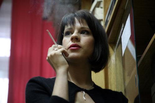 Александра Ребенок в роли физички Орловой. Фото пресс-службы 1 канала.