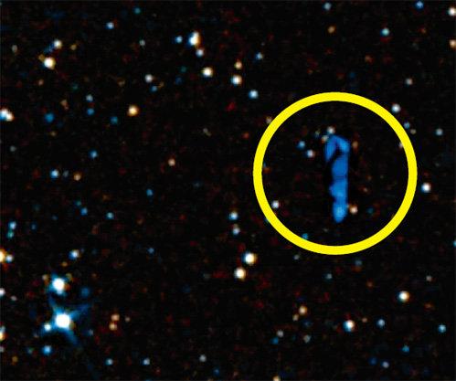 На сделанной телескопом фотографии видны приближающиеся корабли пришельцев