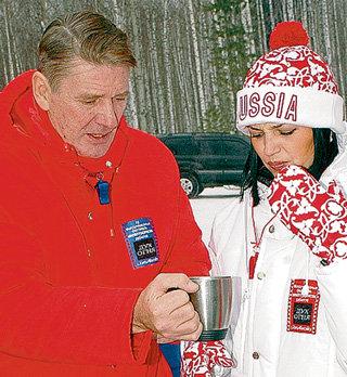 АБДУЛОВ с МЕШИНОЙ на фестивале в Ханты-Мансийске в 2006 г.