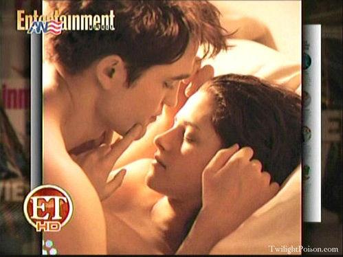 Фото со съёмок первой брачной ночи Беллы и Эдварда
