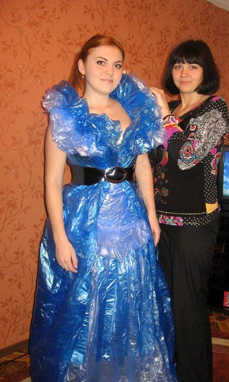 Платье из мусорных пакетов сшить