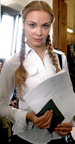 В таком образе героиня Тани будет поступать на медицинский факультет