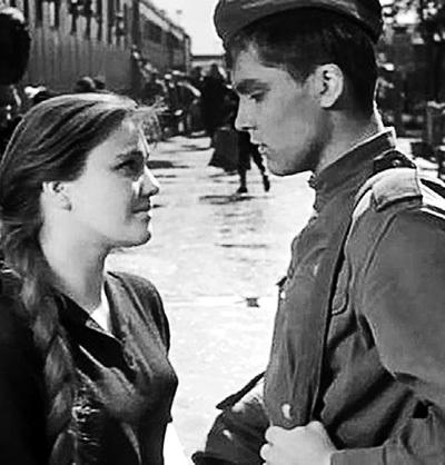 С Владимиром ИВАШОВЫМ в «Балладе о солдате»