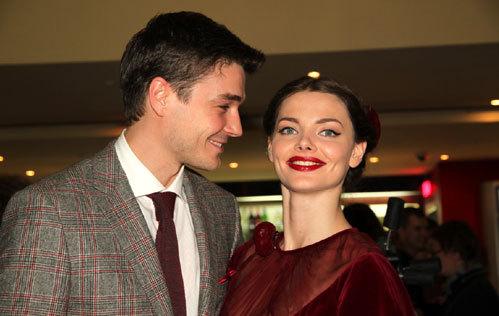 Елизавета БОЯРСКАЯ с мужем Максимом МАТВЕЕВЫМ (Фото Бориса Кудрявова)