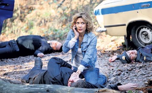 В сериале «Защитница» актриса сыграла сержанта поселковой полиции