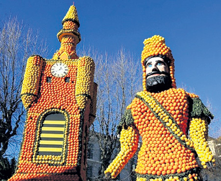 Цитрусовый замок охраняет апельсиновый витязь