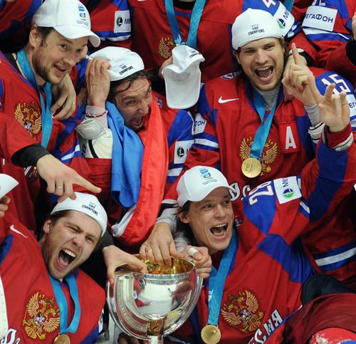 Хоккеисты сборной России - лучшие! Фото: «РИА Новости».