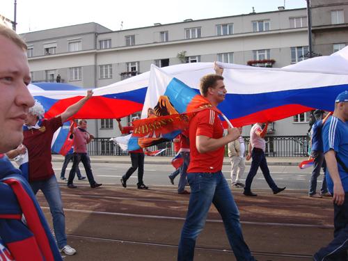 Российские болельщики требуют отставки президента РФС.