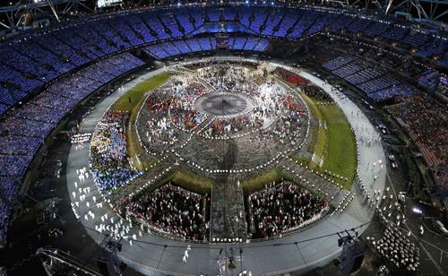 Олимпийский парк в Лондоне.
