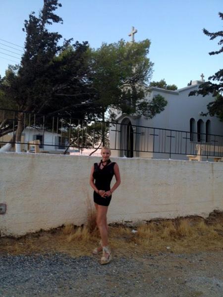 Настя отправилась по святым местам (фото из Твиттера балерины)