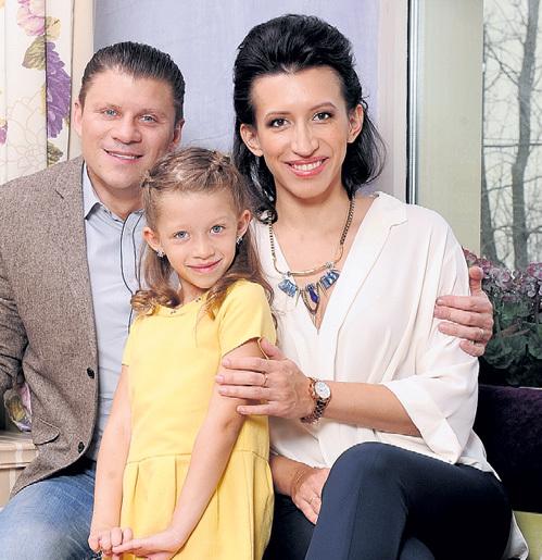 С дочкой и мужем. Фото Михаила ФРОЛОВА