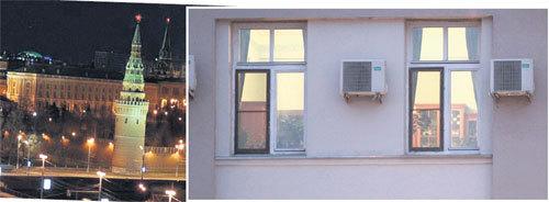 ...а из окна квартиры открывается роскошный вид на Кремль