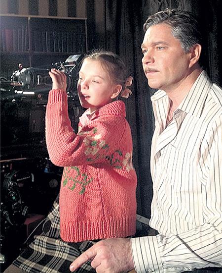В «Доме с лилиями» МАХОВИКОВ снялся с дочкой Сашей. Фото: Makhovikov.ru