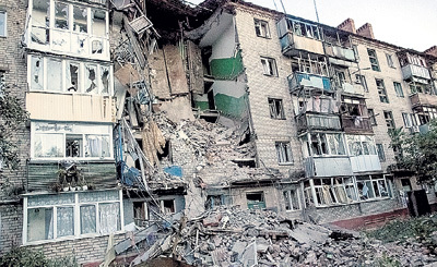 Родной город РЕВВЫ - Донецк - становится руинами. Фото: РИА «Новости»
