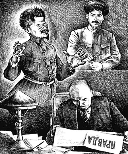 К 1920 г. после поражения от Польши СТАЛИН уже не разделял идею ТРОЦКОГО и ЛЕНИНА о победе мировой революции