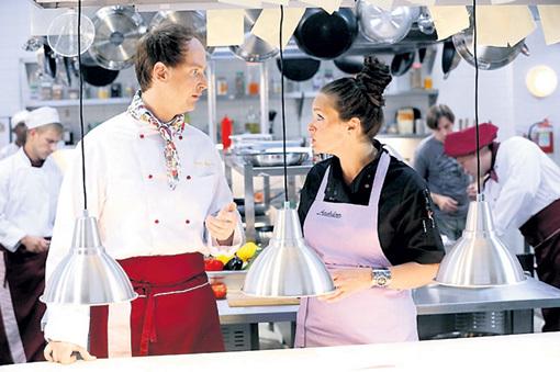 С Мариной МОГИЛЕВСКОЙ в «Кухне»