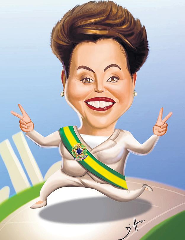 Дружеский шарж. 32 процента населения Бразилии настаивают на том, чтобы она поскорее вернулась на прежний пост