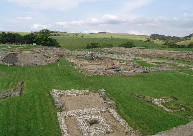 Развалины древнеримского форта Виндоланда