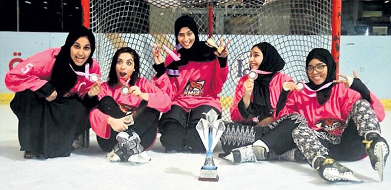 Хоккей на Ближнем Востоке делает первые, пока ещё неуверенные шаги. Фото: Twitter.com