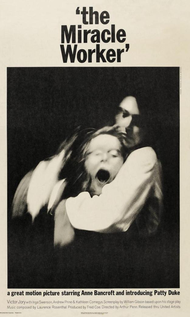 Постер фильма «Сотворившая чудо» (1962 г.).