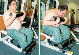 СКРУЧИВАНИЕ НА ТРЕНАЖЕРЕ: работают средние и нижние мышцы