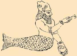 ВАВИЛОНСКИЙ БАРЕЛЬЕФ: племя догонов и древние ассирийцы изображали своего главного бога с рыбьим хвостом и звали его одинаково - Оаннес