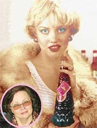 МОДЕЛЬ: красиво рекламировать спиртное Машу научила Ольга Курганова (в круге)