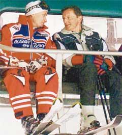 ПУТИН - ШЮССЕЛЮ: &#034Вольфганг, с лыжами у вас отлично, а как насчет дзюдо?&#034