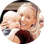 Кристен с сыном Джорданом
