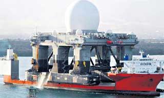 АНТИРАКЕТНАЯ БАРЖА: привезла радар с Гавайев на Аляску