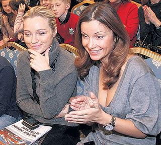 Инна МАЛИКОВА и Ольга ОРЛОВА - увлечённые зрители