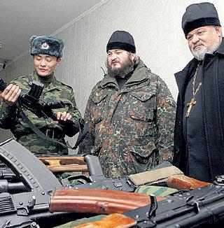 ...стрелять из современного оружия и молить Бога о том, чтобы юным сынам Отечества и всему его воинству не довелось участвовать в войне...