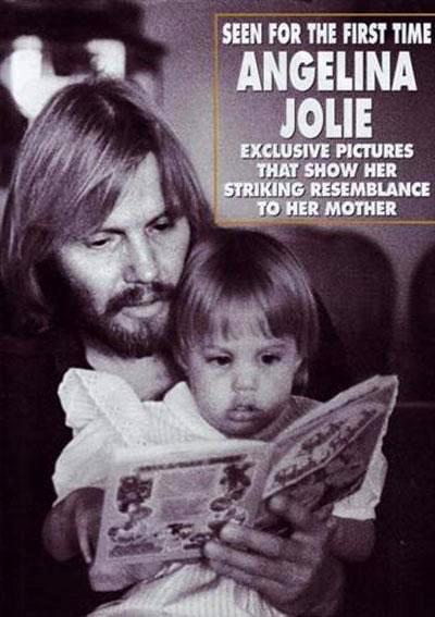 Анджелина со своим отцом - голливудским актёром Джоном Войтом
