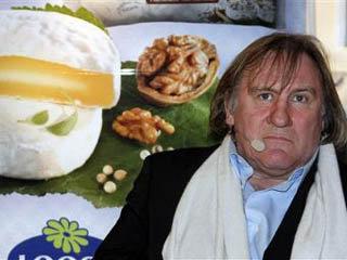 Жерар Депардье на презентации сыра. Фото Associated Press