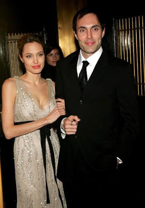 Анджелина с братом Джеймсом Хейвеном