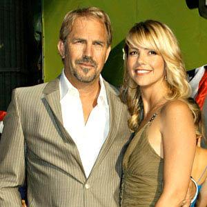 Кевин Костнер с женой Кристиной