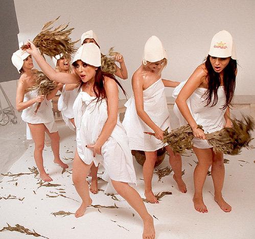 Сцену с вениками девушки сыграли творчески