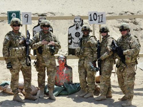 Мишени-зомби пользуются все большей популярностью у американских военных. Фото: army.mil