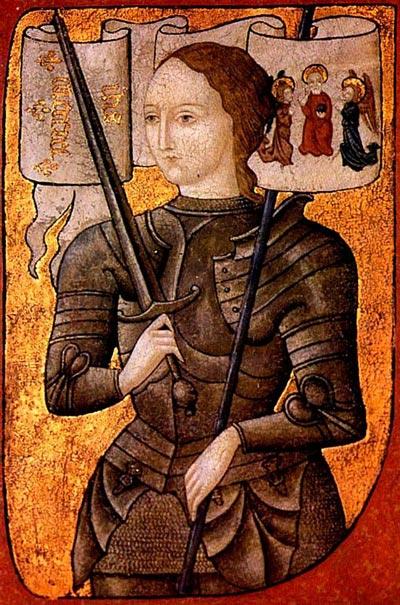 Жанна д'Арк. Миниатюра второй половины XV века. wikimedia.org