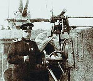 Вице-адмирал Колчак на боевом корабле