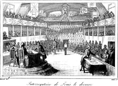 Допрос «Луи Капета» в суде. Автор неизвестен