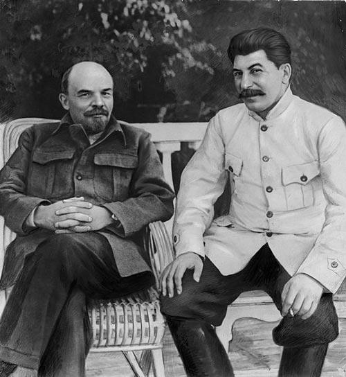 Ленин и Сталин. wikimedia