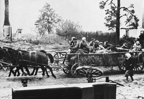 Немецкие беженцы в Восточной Пруссии. wikipedia