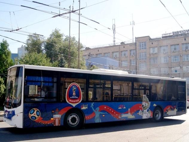 Волгоградские автобусы «заговорят» на двух языках к ЧМ-2018