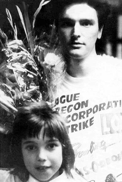 Андрей с маленьким Кристианом Цхадая