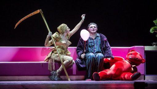 Ксения Собчак и Максим Виторган в спектакле «Женитьба» Театра Наций