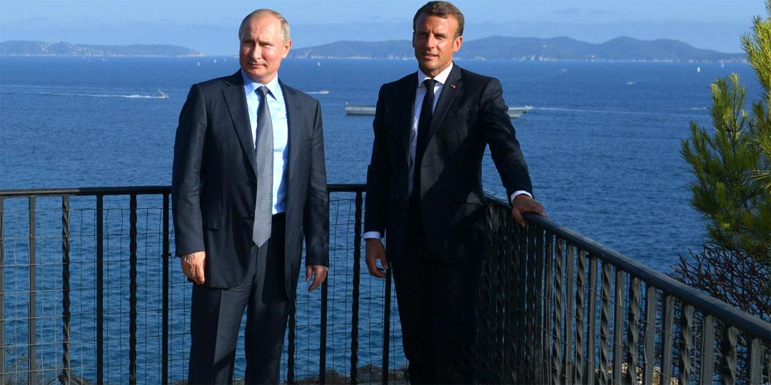 Владимир Путин и Эммануэль Макрон. Фото: globallookpress.com